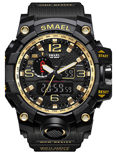 SMAEL Men's Digital Digital Watch Military Watch Sport Watch Japanese Calendar / date / day Chronograph Water Resistant / Water Proof