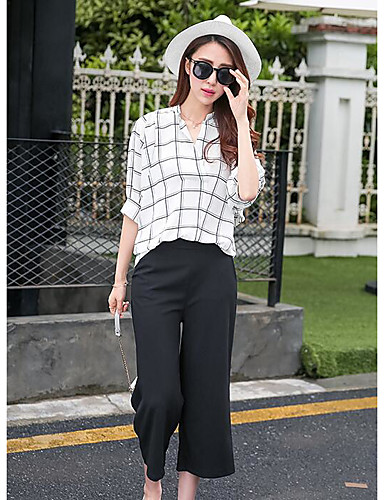 Women's Daily Casual Summer Shirt Pant Suits