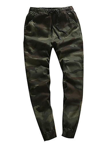 Men's Mid Rise Inelastic Harem Active Chinos Pants,Simple Harem Active Chinos Camouflage
