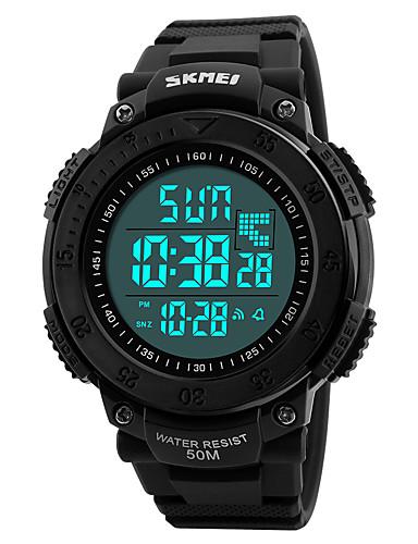 SKMEI Homens Digital Relogio digital Relógio de Pulso Relógio Militar Relógio Esportivo Japanês Alarme Calendário Cronógrafo Impermeável