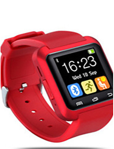 Men's Fashion Watch Digital Water Resistant / Water Proof Rubber Band Black Silver Red