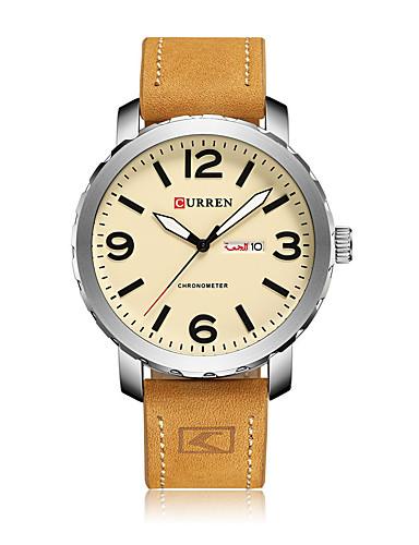 Men's Quartz Wrist Watch Smartwatch Skeleton Watch Sport Watch Chinese Large Dial Shock Resistant Genuine Leather Band Charm Creative