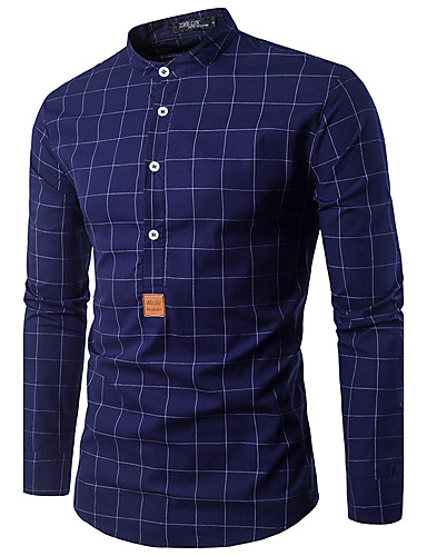 Herrn Gestreift-Street Schick Hemd