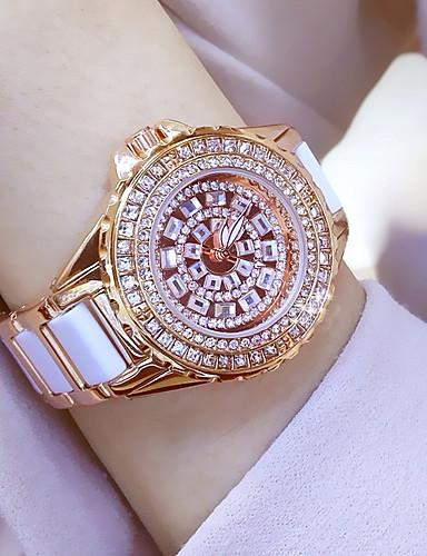 Női Kvarc Karóra / Karkötőóra Kínai Vízálló / Kreatív / utánzat Diamond Rozsdamentes acél Zenekar Amulett / Luxus / Szikra / Pötty /