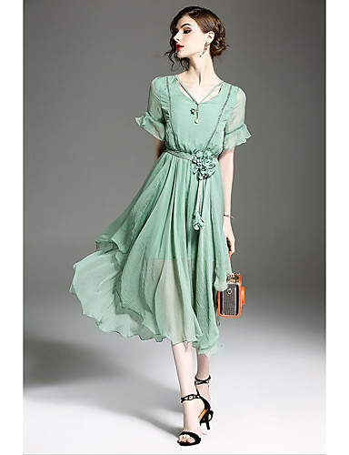 Women's Holiday Going out Casual Street chic Loose Swing Dress