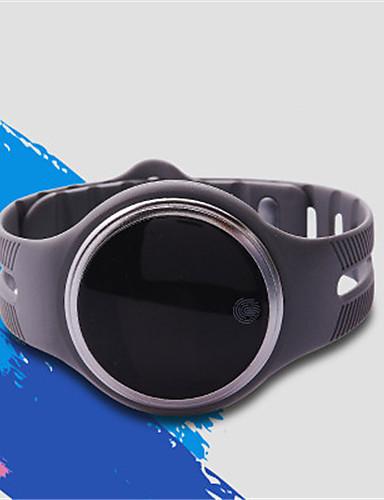 Men's Smart Watch Digital Rubber Band Black White