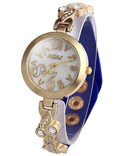 Mulheres Quartzo Simulado Diamante Relógio Único Criativo relógio Relógio de Moda Chinês imitação de diamante Couro Banda Brilhante Preta
