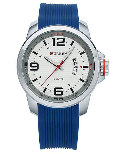 Men's Sport Watch Smartwatch Wrist Watch Quartz 30 m Water Resistant / Water Proof Calendar / date / day Creative Silicone Band Analog Charm Fashion Dress Watch Multi-Colored - Black Orange Blue Two