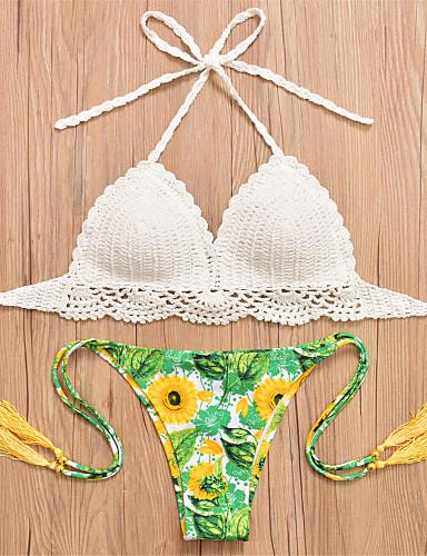 Women's Halter Bikini Print