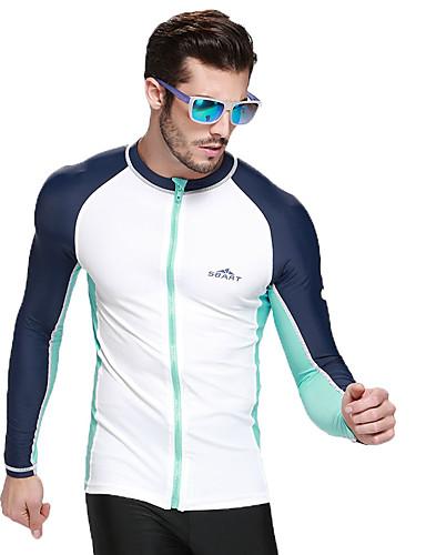 SBART Men's Diving Rash Guard Chinlon / Elastane Long Sleeve Swimwear Beach Wear Sun Shirt Print Diving / Surfing / Watersports / High Elasticity