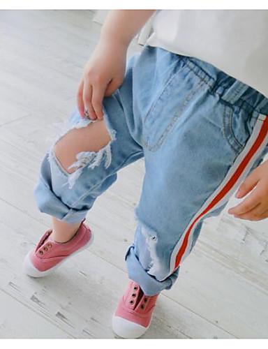 Gutt Jeans Ensfarget Sommer