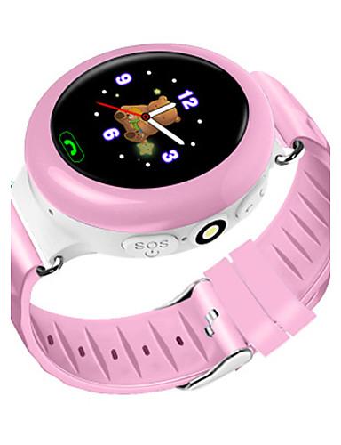 Bambini Smart Watch Orologio Alla Moda Digitale Resistente All'acqua Gomma Banda Blu Rosa #06062732 E La Digestione Aiuta