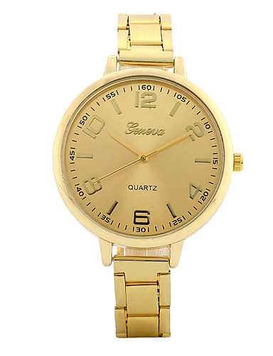 Women's Quartz Wrist Watch Chinese / Alloy Band Candy color Casual Elegant Fashion Silver Gold Rose Gold