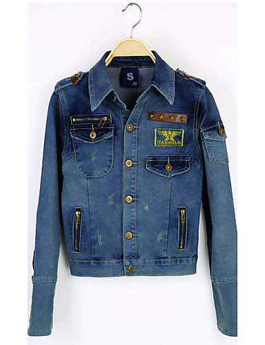 Women's Daily Punk & Gothic Spring Denim Jacket