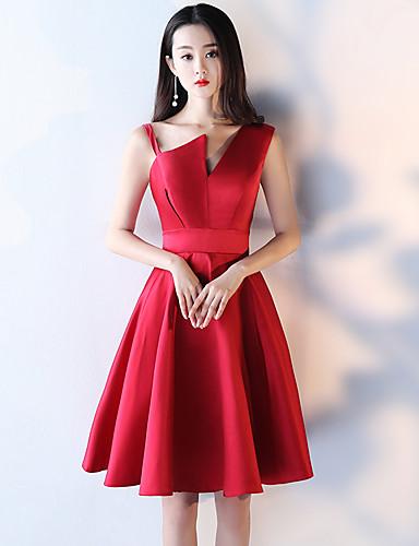 A-Line Straps Short / Mini Taffeta Cocktail Party Dress