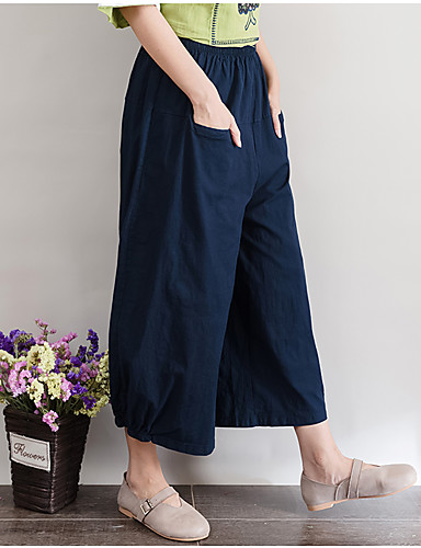 Women's Mid Rise Inelastic Bootcut Wide Leg Pants,Simple Bootcut Wide Leg Solid