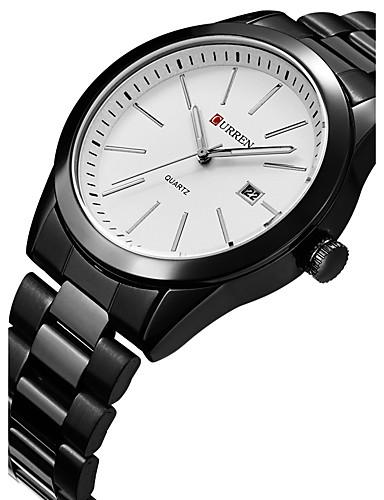 CURREN Men's Sport Watch / Wrist Watch Calendar / date / day / Creative / Cool Stainless Steel Band Luxury / Casual / Fashion Black