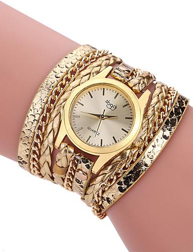 voordelige Armband Horloge-Dames Modieus horloge Armbandhorloge wikkel horloge Kwarts Leer Zwart / Wit / Blauw Kleurrijk Analoog Dames Informeel - Bruin Rood Roze