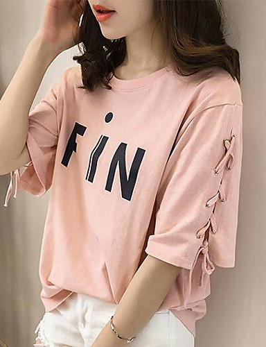 Women's Going out Daily Casual Street chic Summer Fall T-shirt