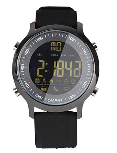 Men's Women's Smart Watch Digital Rubber Band Black Orange Green