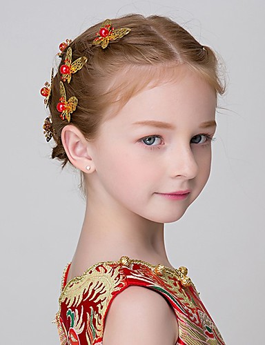Girls Hair Accessories,All Seasons Alloy Gold