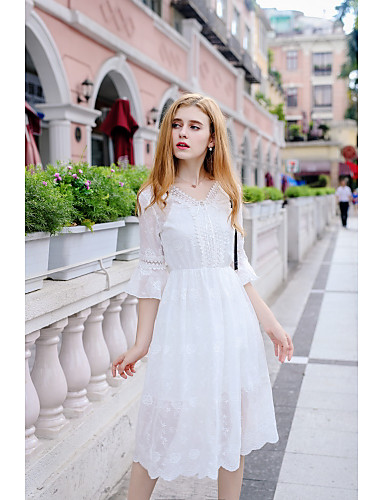 Women's Going out Daily Cute Lace Dress