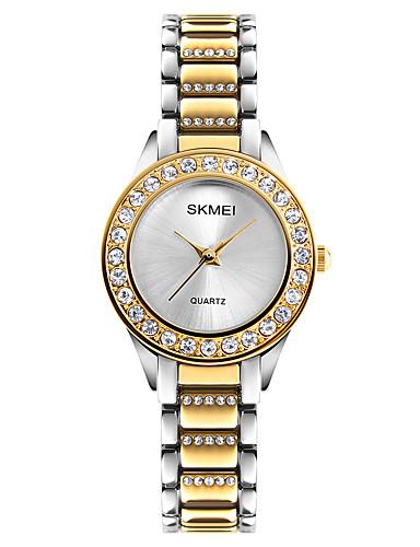 SKMEI Mulheres Único Criativo relógio Relógio de Pulso Relógio de Moda Japanês Quartzo Impermeável imitação de diamante Lega Banda Legal