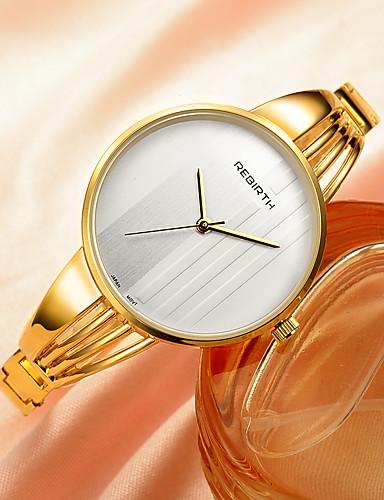 REBIRTH Mulheres Relógio de Pulso Relógio de Moda Quartzo Venda imperdível Lega Banda Amuleto Prata Dourada