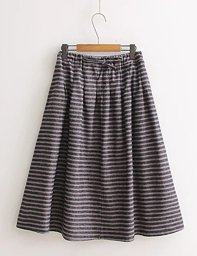 Women's Beach Going out Daily Holiday Midi Skirts