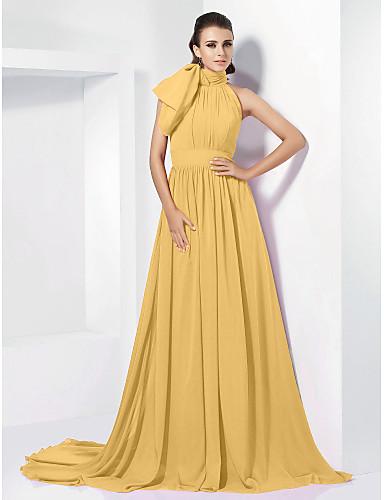 283b2fc67c1d Γραμμή Α Ζιβάγκο Ουρά μέτριου μήκους Σιφόν Εμπνευσμένο από Βίντατζ Επίσημο  Βραδινό Φόρεμα με Φιόγκος(οι)   Πλισέ με TS Couture®
