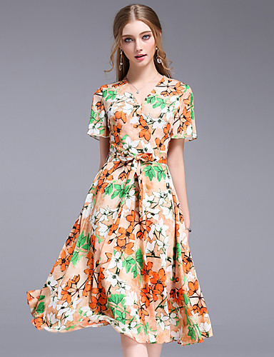 Women's Going out Daily Vintage Street chic Sophisticated Sheath Swing Dress