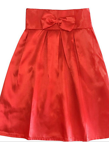 Women's Cotton A Line Skirts - Solid Colored / Summer