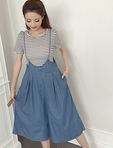Women's Casual T-shirt - Solid Colored Skirt / Summer