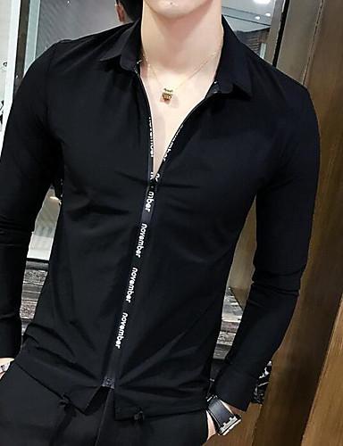 Men's Cotton Polo - Solid Colored Shirt Collar