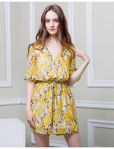 Women's Going out Daily Sexy A Line Chiffon Dress