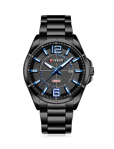 Men's Dress Watch Fashion Watch Chinese Quartz Hot Sale Stainless Steel Band Casual Black Silver