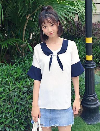 Naisten Color Block Katutyyli Bile T-paita