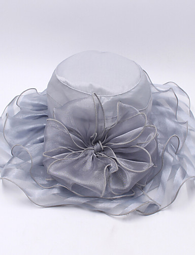 Women's Hat Organza Bucket Hat Floppy Hat Sun Hat - Solid Colored Mixed Color
