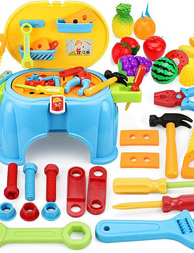 voordelige Speelgoedgereedschap-Bouwgereedschap Speelgoedgereedschap Gereedschapskisten Jongens Veiligheid Kinderen