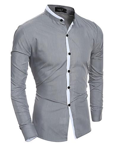 Men's Shirt - Color Block Classic Collar