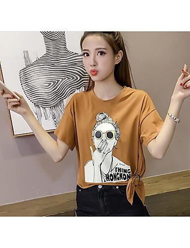 Naisten Puuvilla Kukka Sievä T-paita