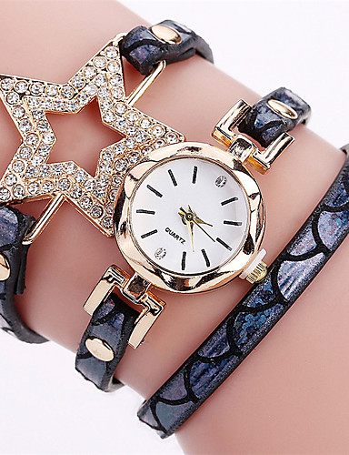 Women's Bracelet Watch Chinese Calendar / date / day / Water Resistant / Water Proof / Creative PU Band Casual / Bangle / Fashion Black / Gold / Rose / Stainless Steel