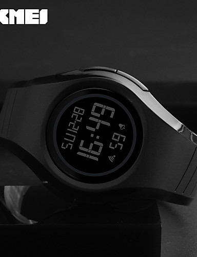 SKMEI Men's Digital Watch Sport Watch Japanese Digital Alarm Water Resistant / Water Proof Noctilucent Rubber Band Casual Cool Black