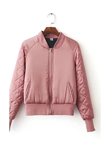 Women's Going out Street chic Padded - Solid Colored