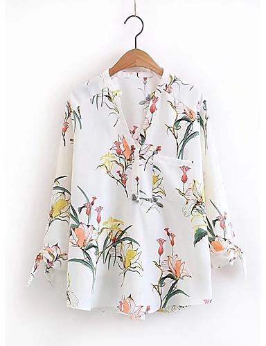 Women's Beach Cotton Shirt - Floral Stand