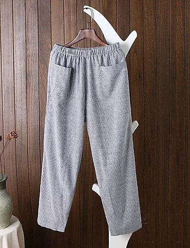 Women's Mid Rise strenchy Culotte Relaxed Pants,Street chic Striped Spring Summer Fall