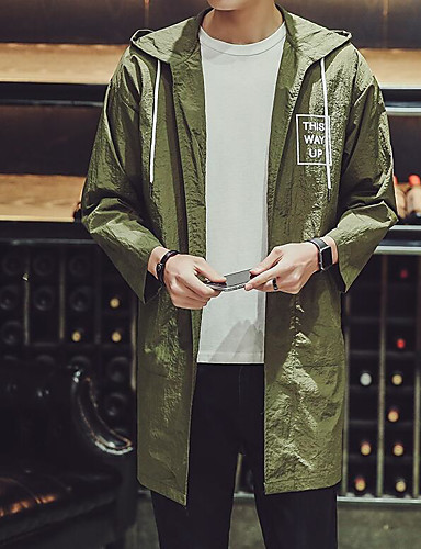Men's Daily Casual Spring/Fall Trench Coat