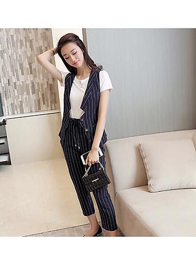 Women's Holiday Boho Summer Blouse Pant Suits,Print Cowl Short Sleeve Spandex Micro-elastic