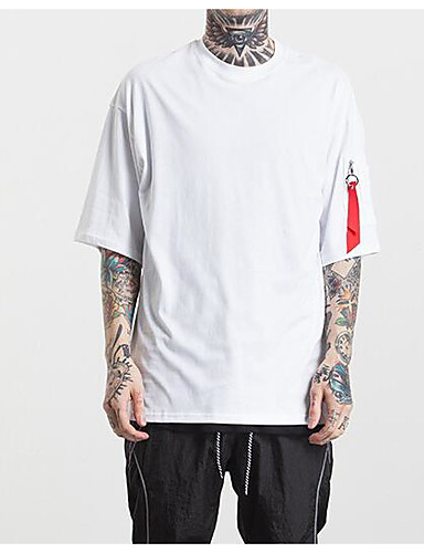 Men's Sports Going out Daily Casual Street chic Active Summer Fall T-shirt