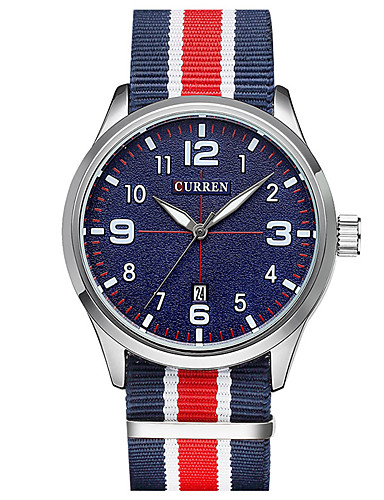CURREN Homens Único Criativo relógio Relógio de Pulso Relógio de Moda Relógio Esportivo Relógio Casual Quartzo Relógio Casual Tecido Banda